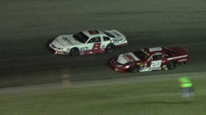 SUPER LATE MODEL | Matt Kenseth Moves Erik Jones Last Lap